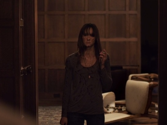 Sharni Vinson as Erin caught in the wrong family (screenshot from the movie)
